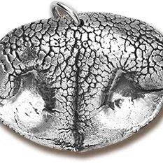 Custom Silver Pet Nose Print Pendent - Owl Cove
