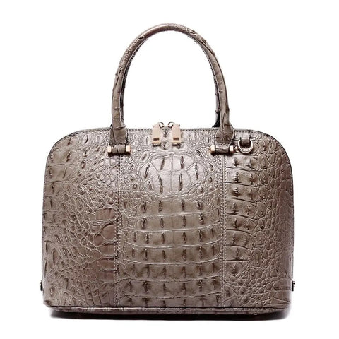 Carlie Crocodile Dual Handle Tote/Crossbody - Owl Cove