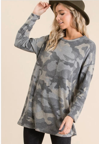 Camo Tunic - Owl Cove