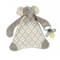 Emerson the Elephant Pacifier Blankie - Owl Cove