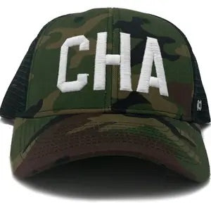 CHA - CHATTANOOGA - Camo Trucker Hat