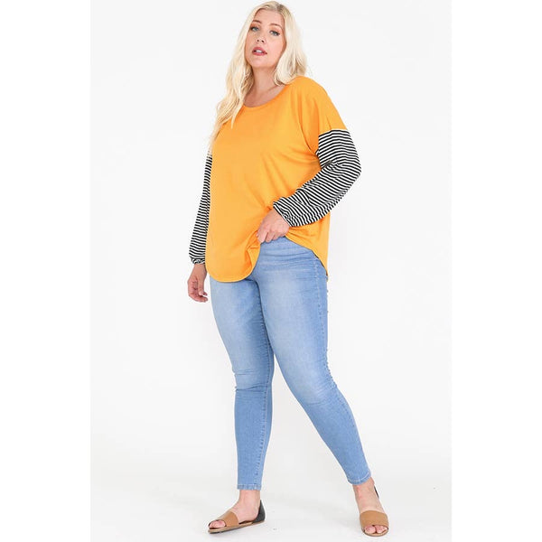 Yellow Sleeve Tound Bottoms Top - Owl Cove