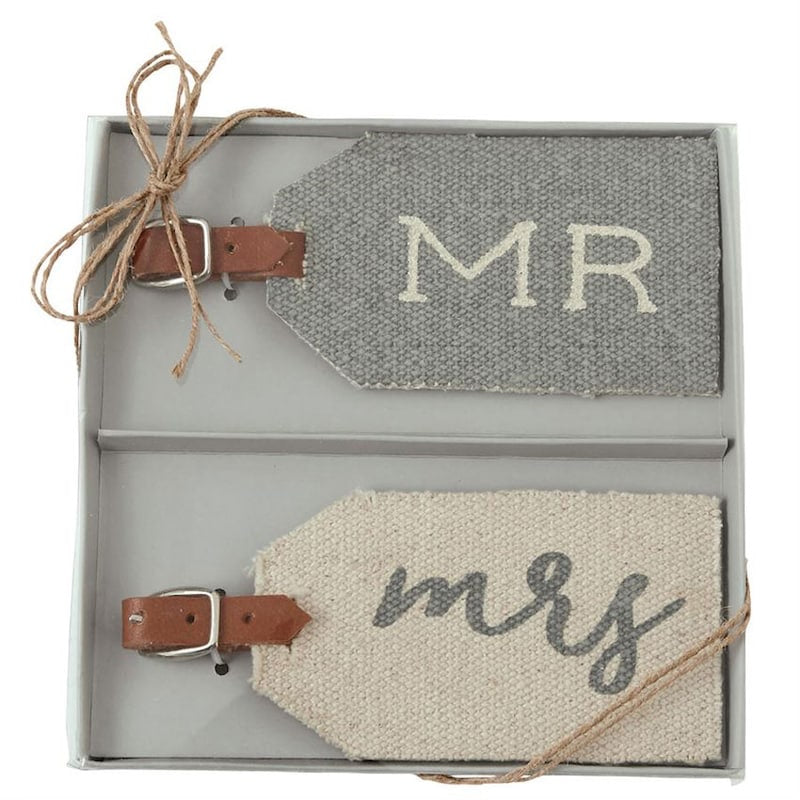 MR MRS DHURRIE LUGGAGE TAGS - Owl Cove