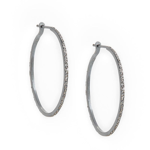 CK MEDIUM HOOPS | diamond dusted - Owl Cove