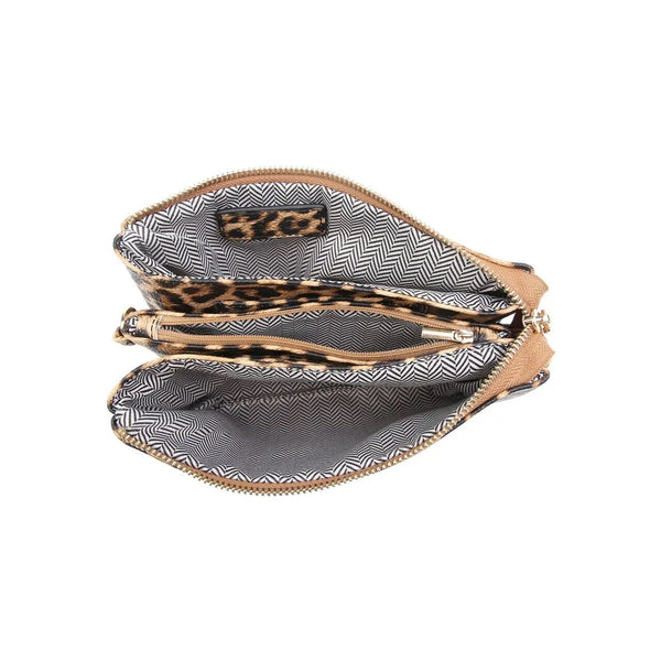Riley Monogrammable 3 Compartment Crossbody/Wristlet - Owl Cove
