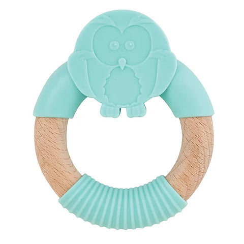 Owl Silicone Teether - Owl Cove