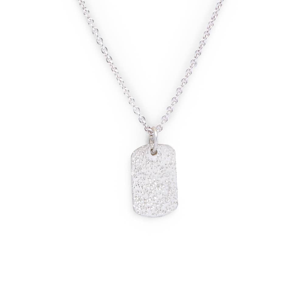 CK Designs Mini Tag Necklace - Sterling Silver - Owl Cove