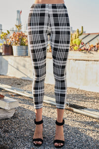 Plaid Leggings - Owl Cove