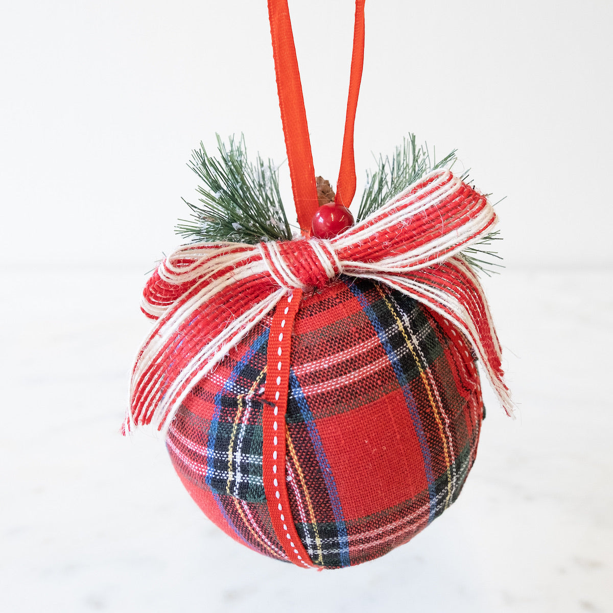 Perfectly Plaid Ornament - Owl Cove
