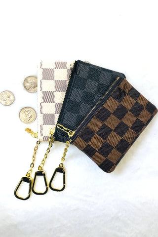 Checkered Coin Purse - Owl Cove