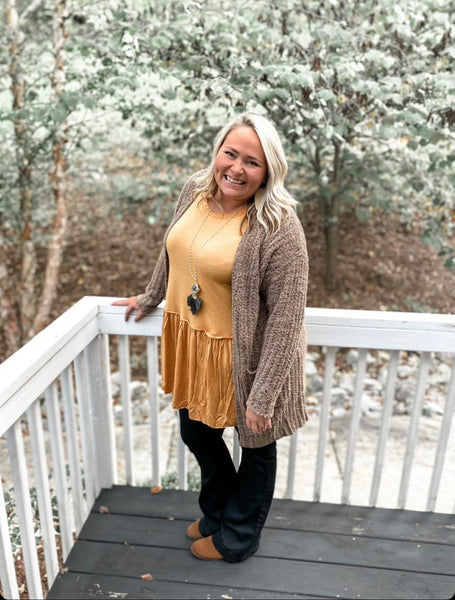 Simply Southern Fuzzy Open Sweater Cardigan - Owl Cove