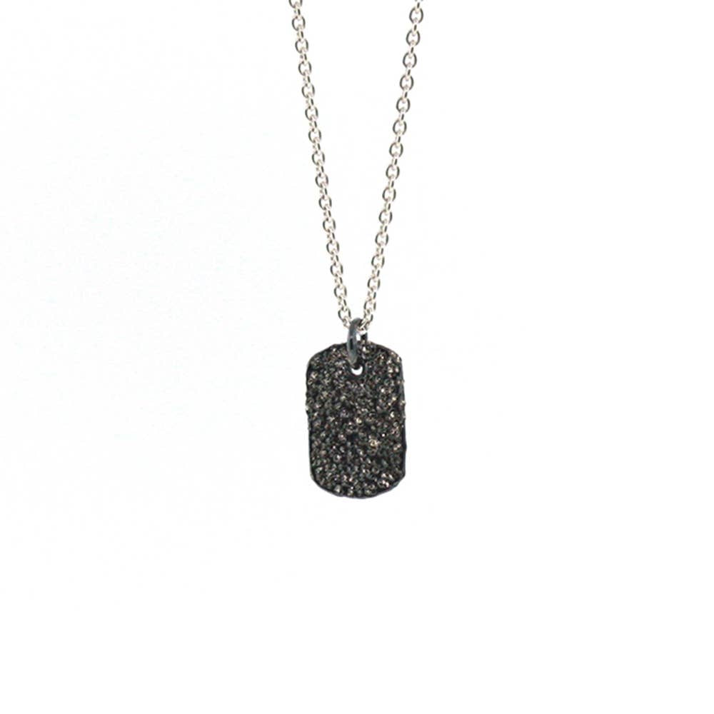 CK Designs Mini Tag Necklace - Oxidized Sterling Silver - Owl Cove