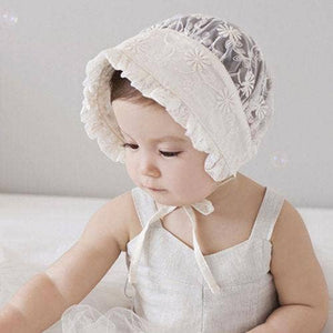 Lucy Lace Baby Bonnet - Owl Cove