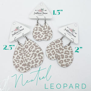 Nude Leopard Earrings - Owl Cove