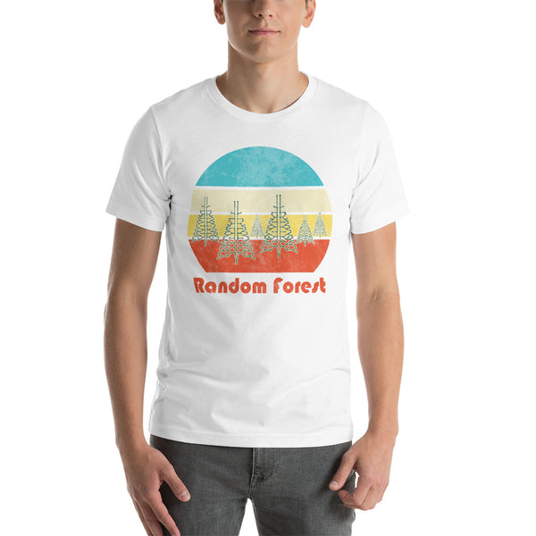 Random Forest (With Text) Unisex Short Sleeve Jersey T-Shirt with Tear Away Label