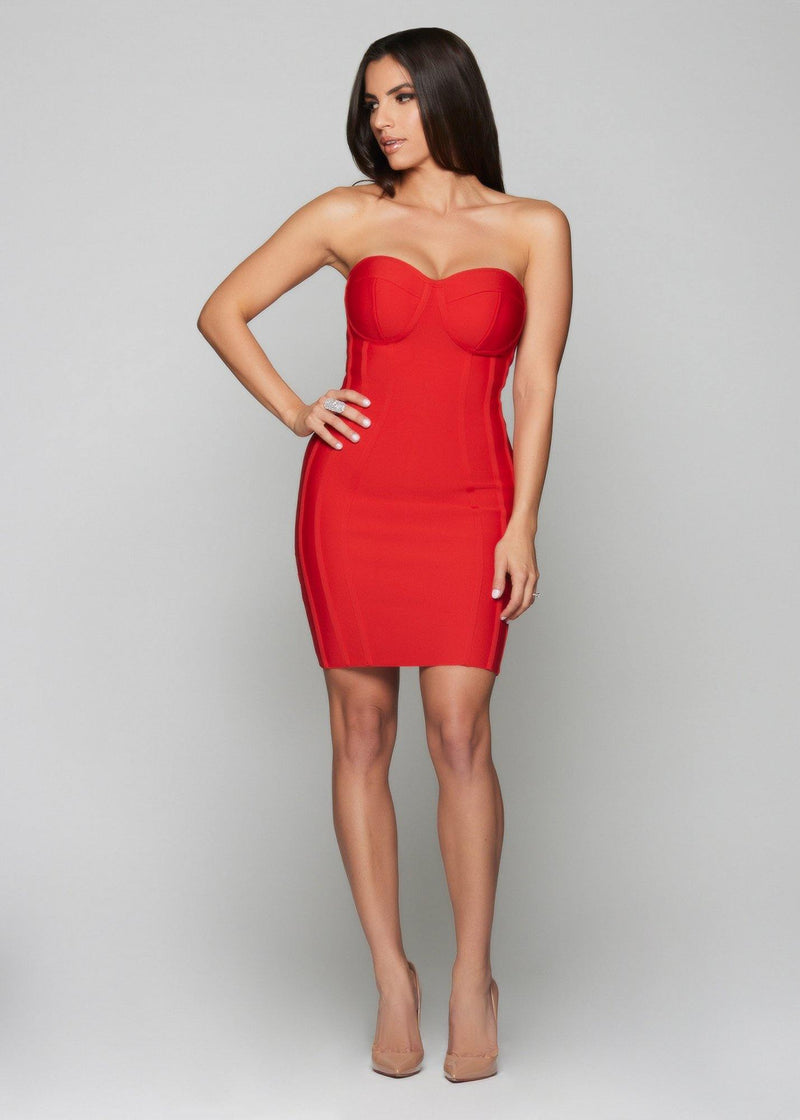 Livia Bandage Red Dress