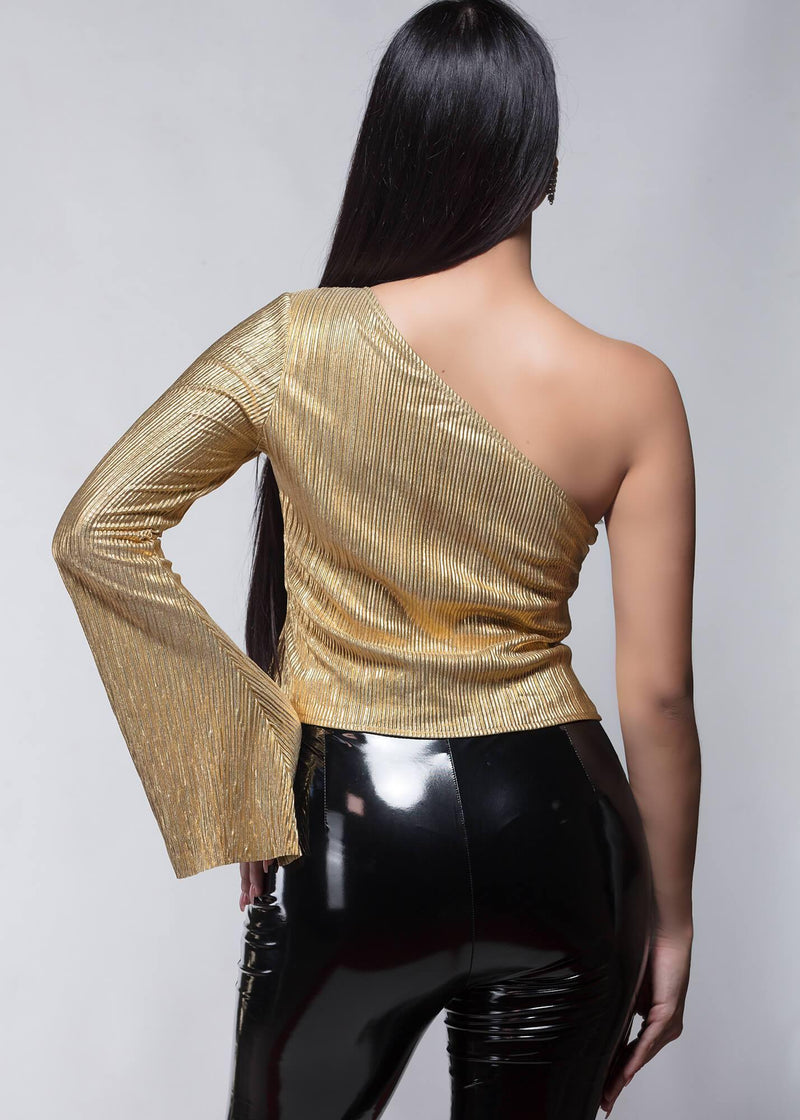 Amelia Gold Blouse - Be Zazzy