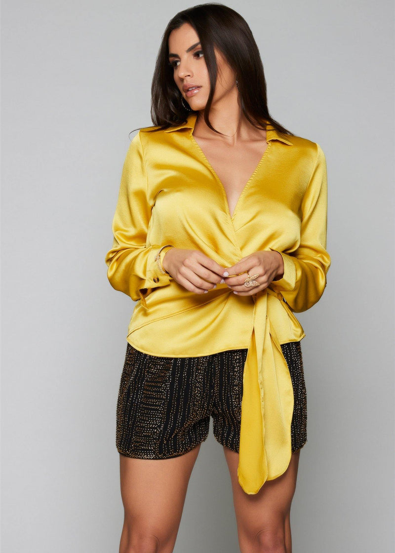 Victoria Wrap Blouse - Be Zazzy