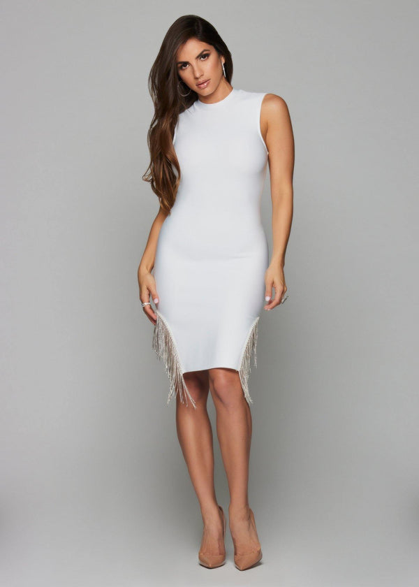 Luna White Bandage Dress