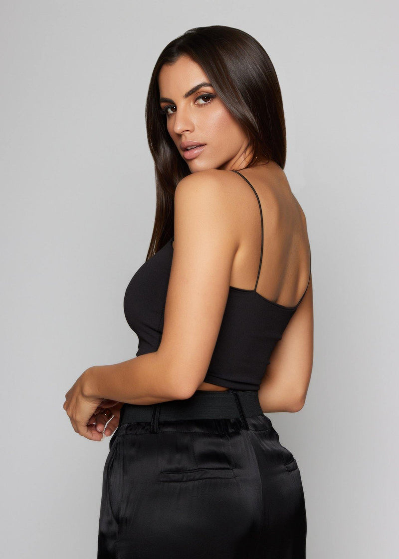 Ana Black Crop Top