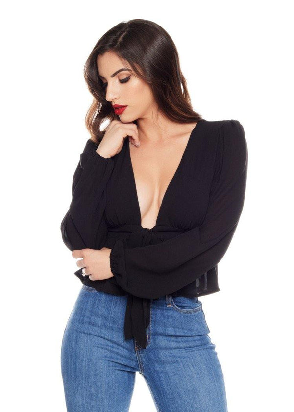 EMMA BLACK BLOUSE