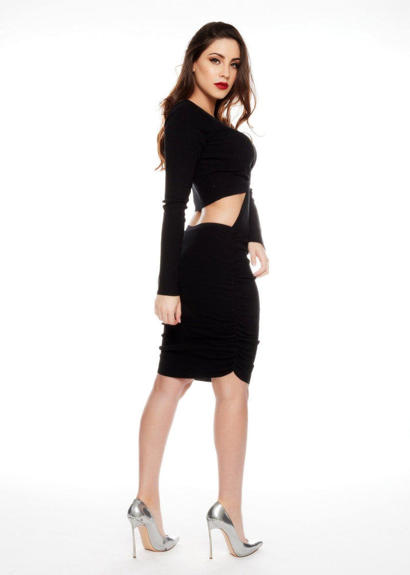 DIANA BLACK DRESS - Be Zazzy