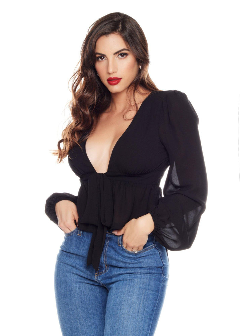 EMMA BLACK BLOUSE - Be Zazzy