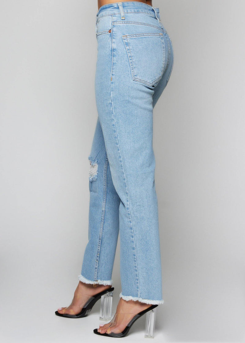 mid-high waisted denim pan blue jean summer style comfortable pants front pockets everyday wear