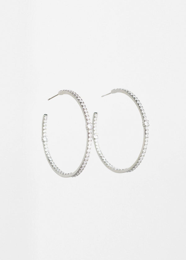 Hoop Pierced Earrings Silver