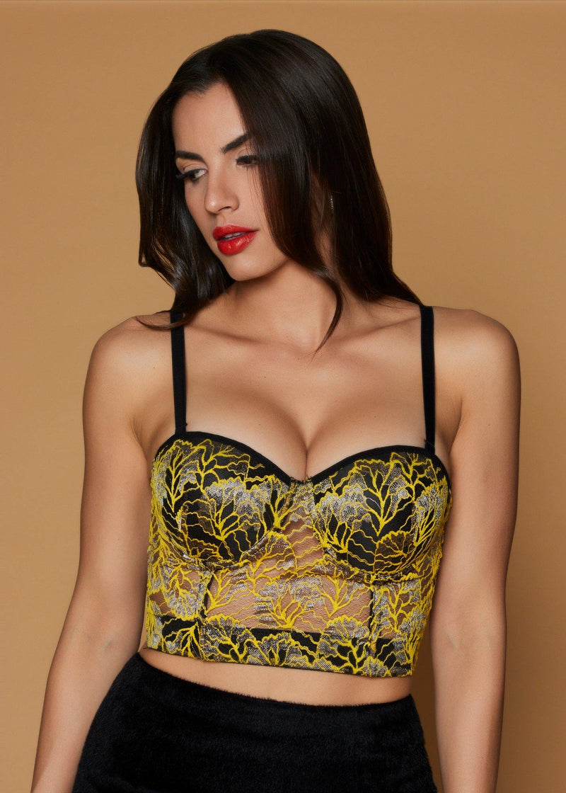 Eva Lace Corset Top - Be Zazzy