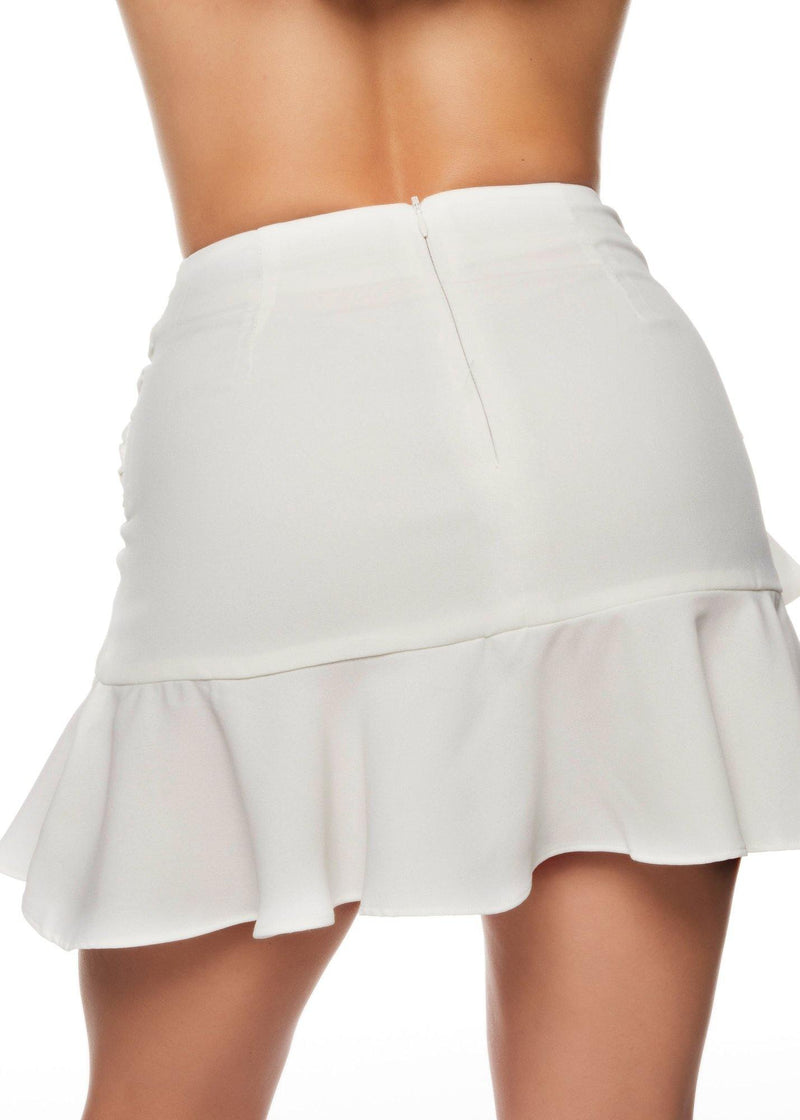 ELEGANCE WHITE SKIRT - Be Zazzy
