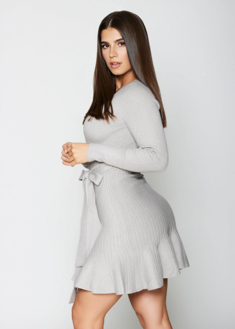 Lolo Grey Sweater Dress