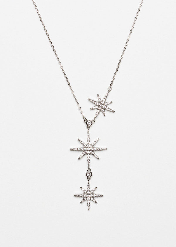 Dainty Zircon Start Necklace