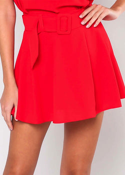 FANCY RED SKIRT - Be Zazzy