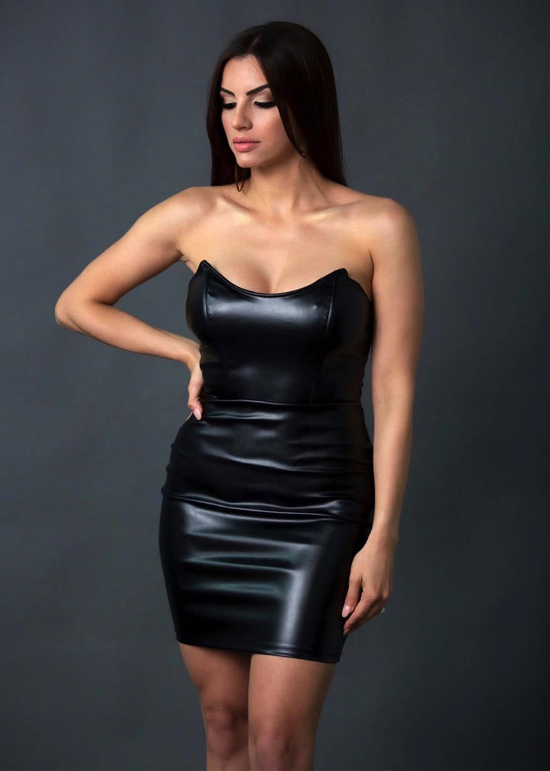 VIVIANA STRAPLESS DRESS - Be Zazzy