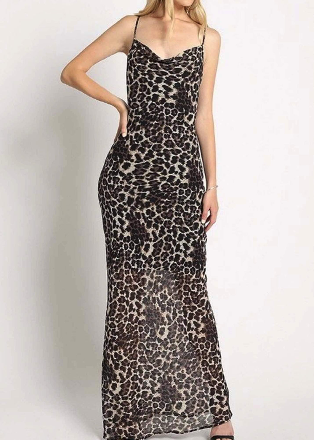 LEOPARD MAXI DRESS - Be Zazzy