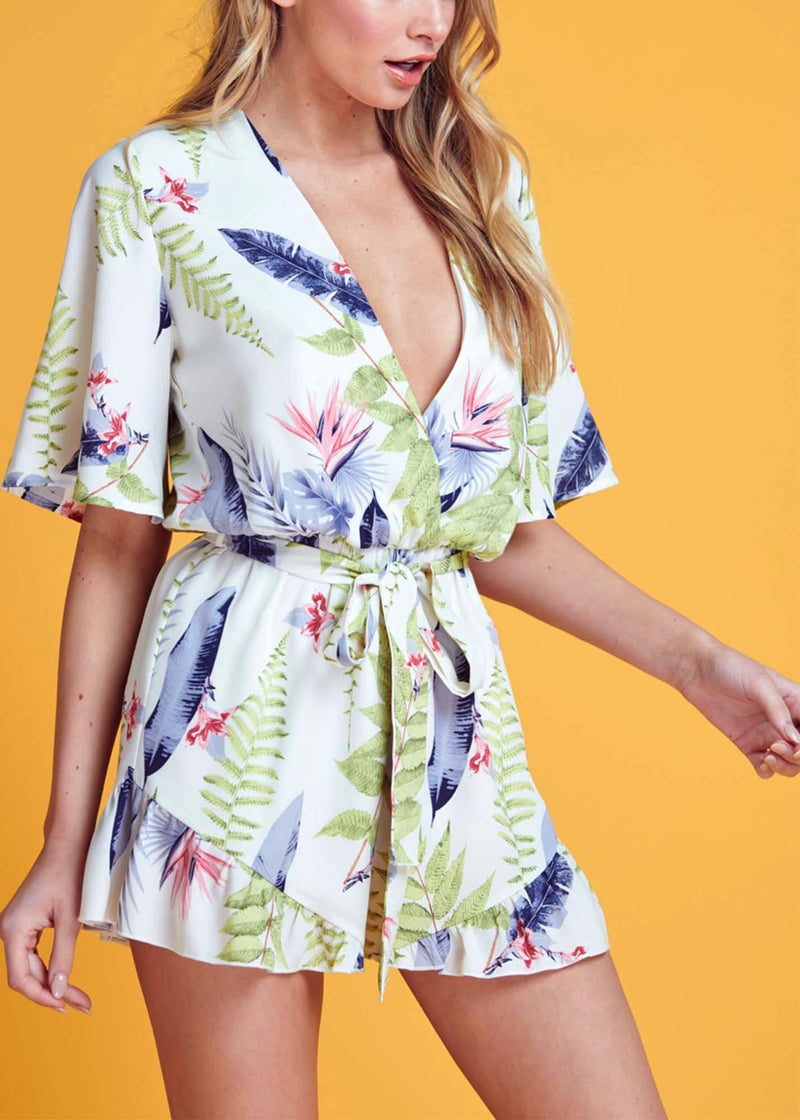 FLORAL ROMPER - Be Zazzy