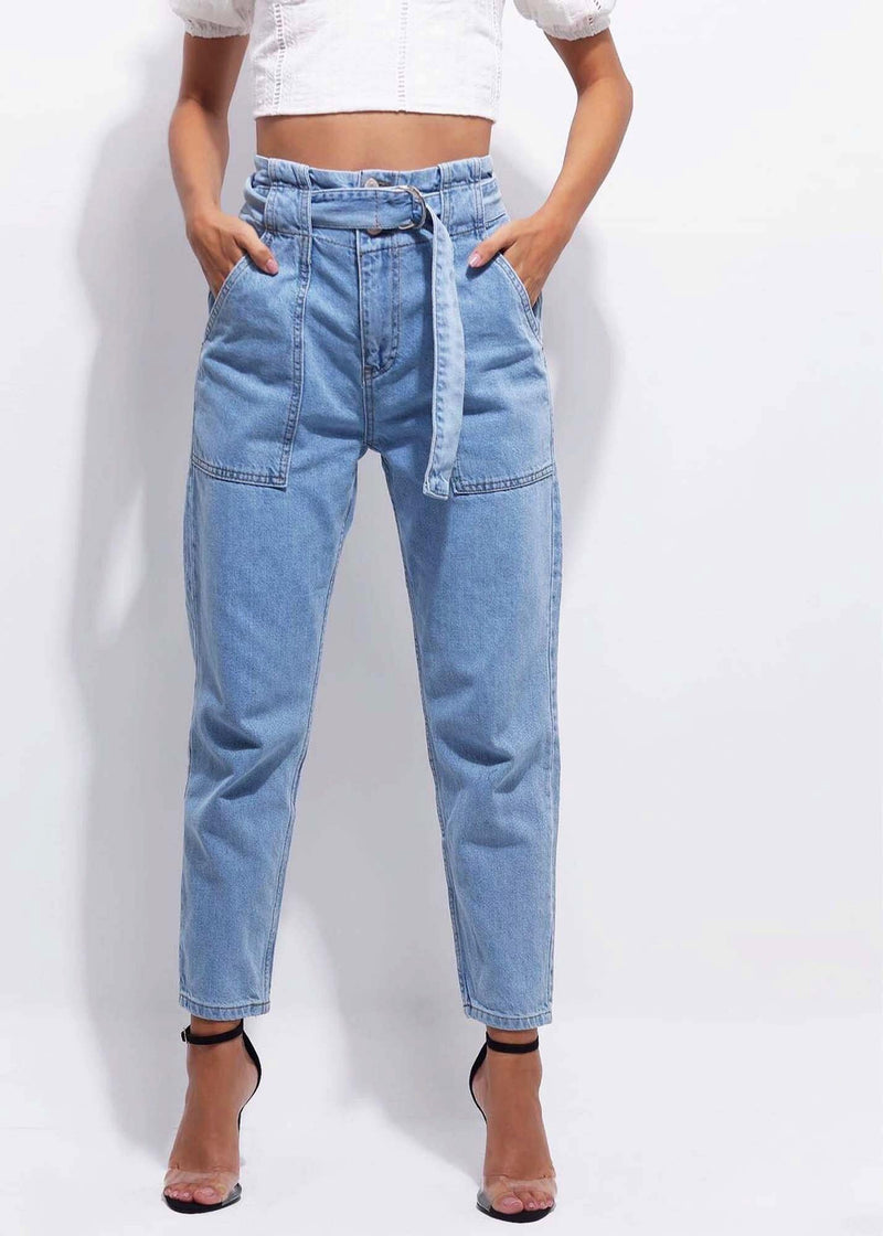 FANCY DENIM PANT - Be Zazzy