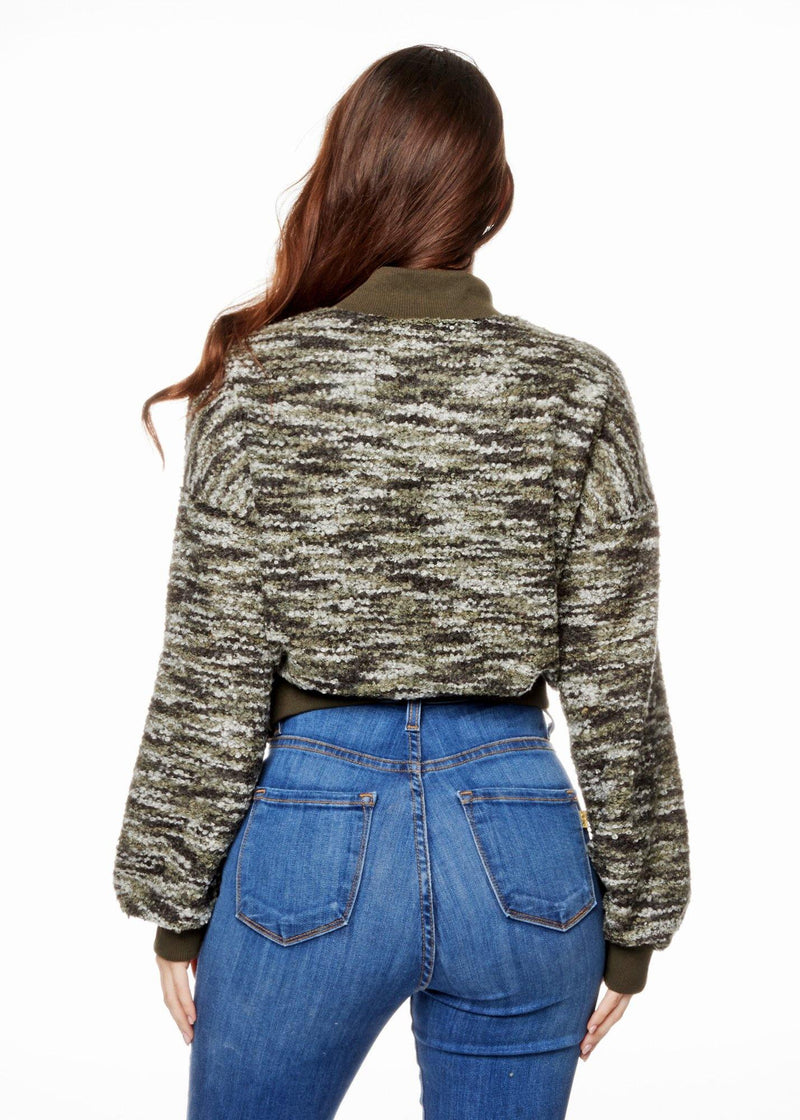 JESSY OLIVE SWEATER - Be Zazzy
