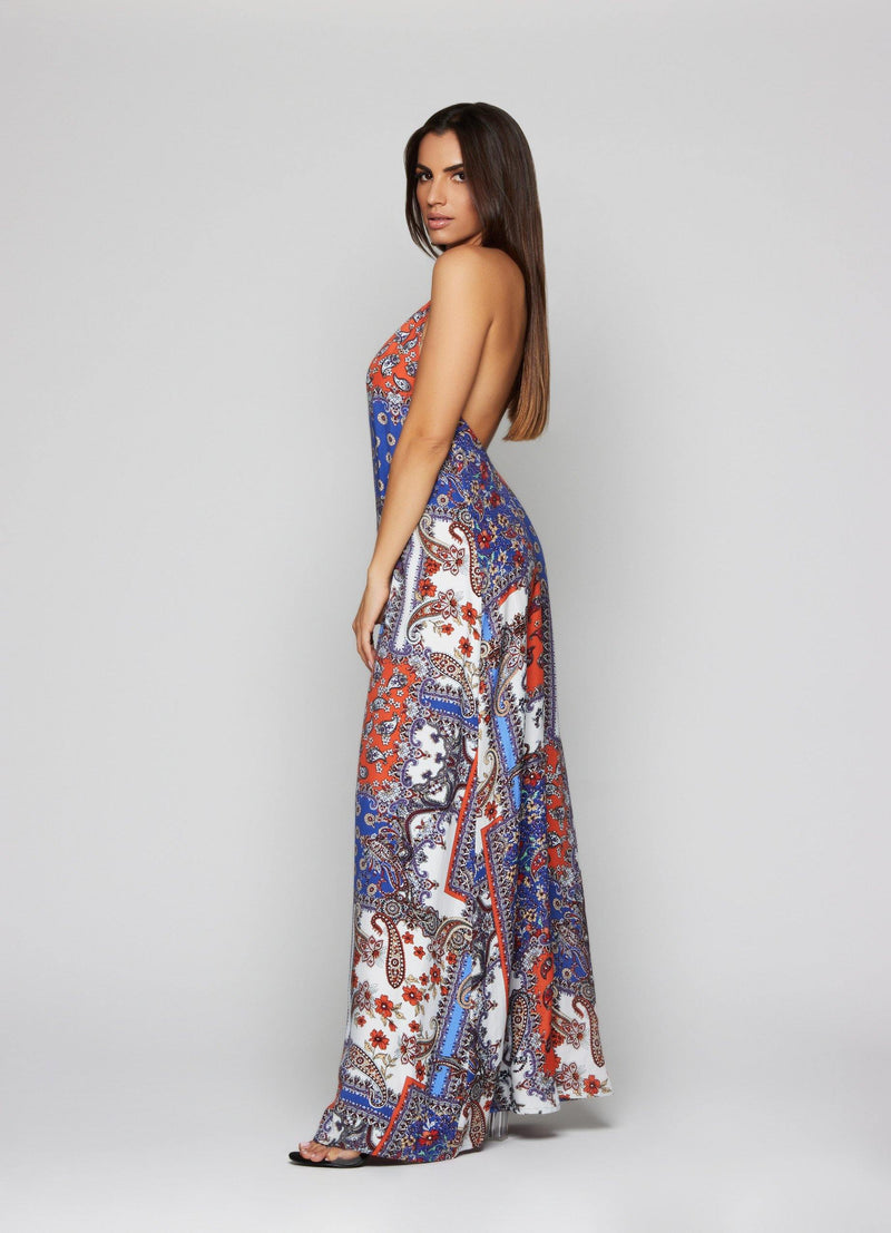 Lena Baroque Maxi Dress