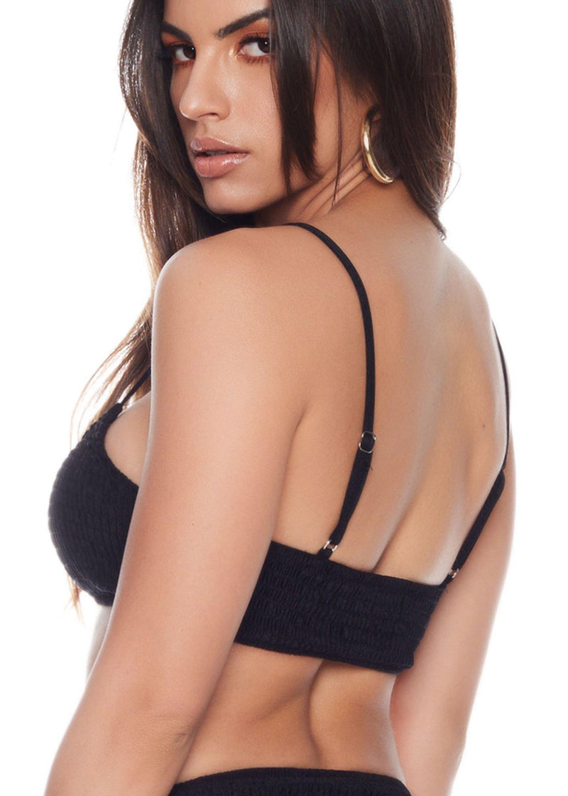 Pullover style Black bikini top  Comfortable and sexy Stretched material Fits your curves 89% nylon - 11% spandex