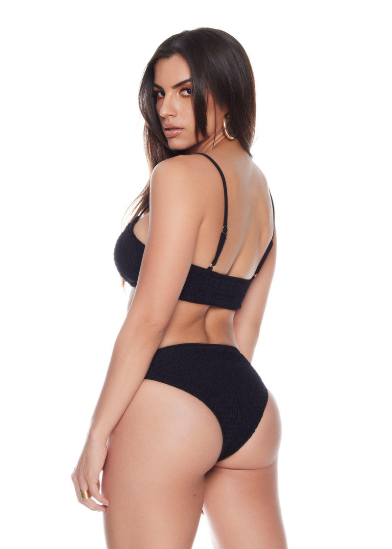 Pullover style Black bikini bottom Comfortable and sexy Stretch material  Fits your curves 89% nylon - 11% spandex