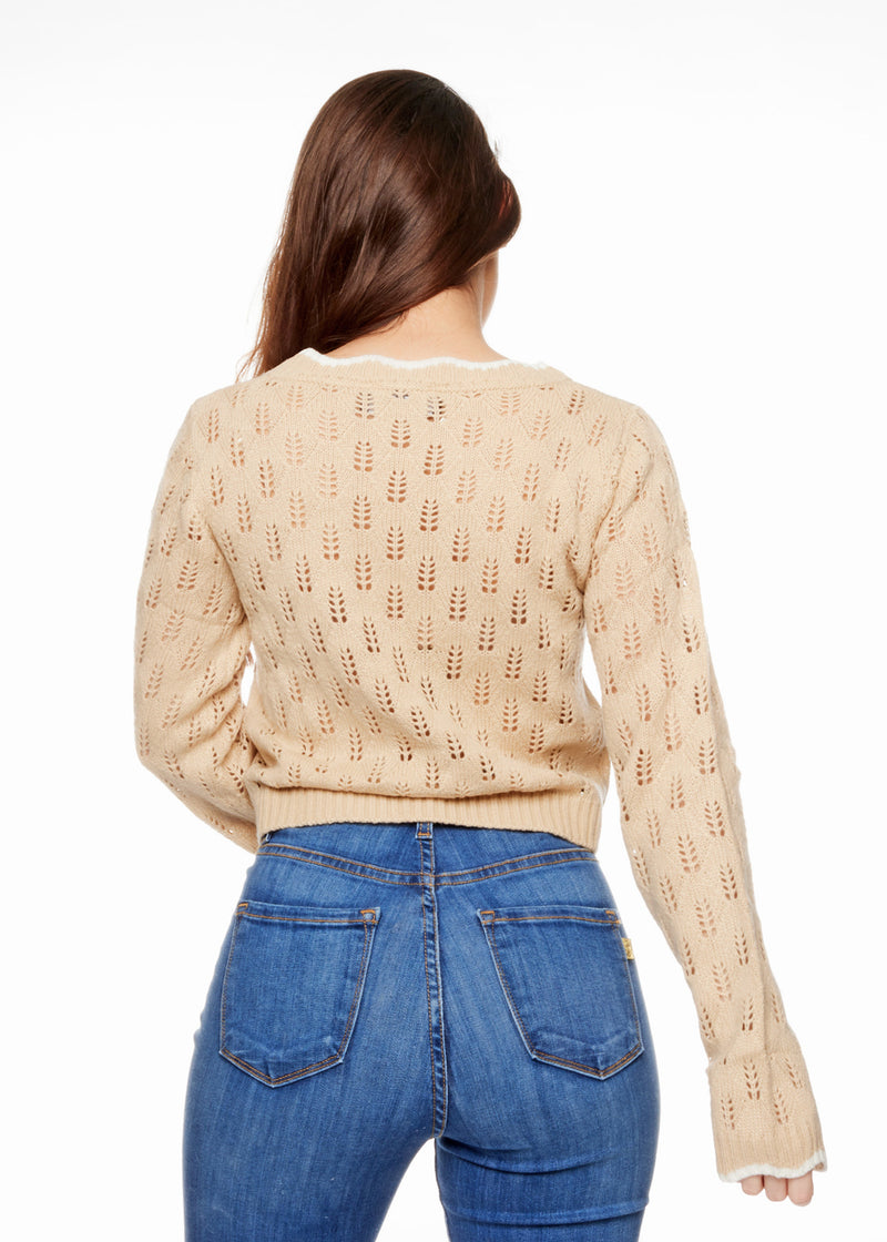 SALLY NUDE SWEATER - Be Zazzy