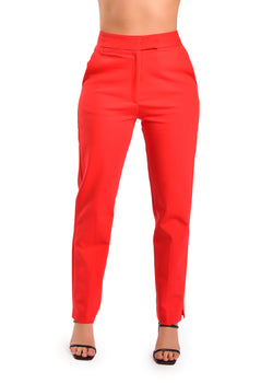 SELMA RED PANT - Be Zazzy
