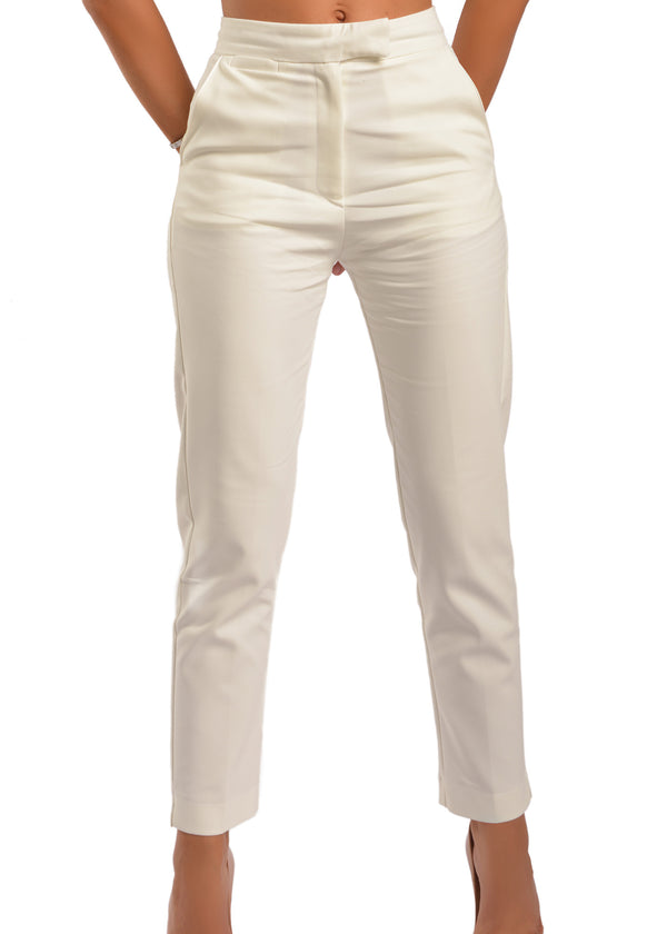 SELMA WHITE PANT - Be Zazzy