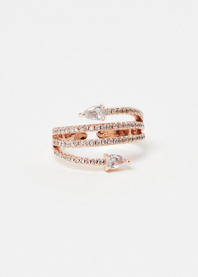 Triple Line Rose Gold Ring