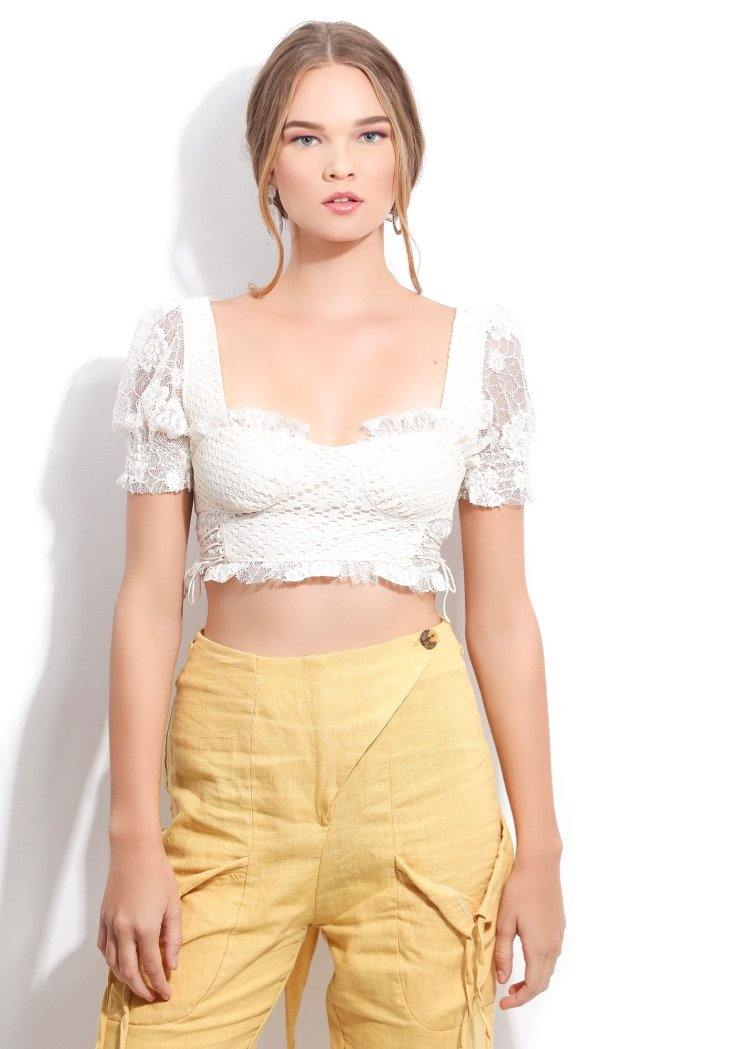 LILIANA CROP BLOUSE - Be Zazzy