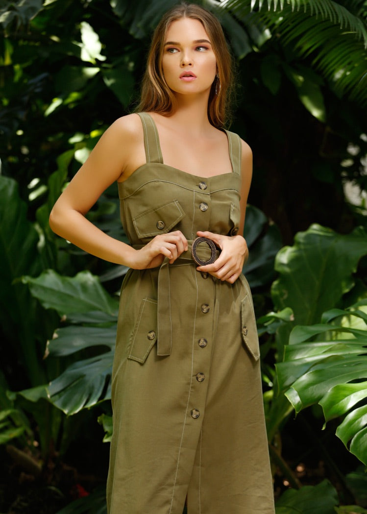 RAISSA OLIVE DRESS - Be Zazzy