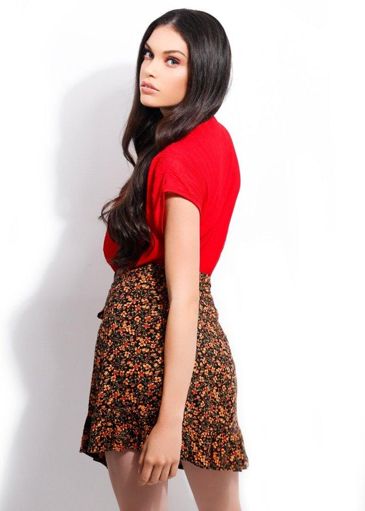 FLORAL MINI SKIRT - Be Zazzy
