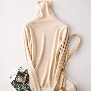 Classic Winter Turtleneck Cashmere Sweater - New Trend Clothing